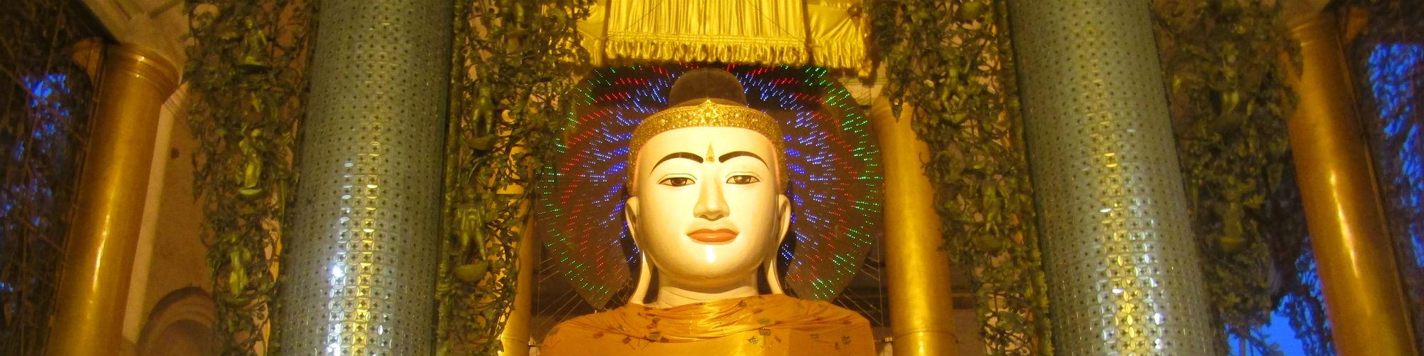 Buddha Image at Shwedagon Pagoda, Yangon