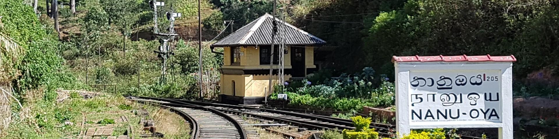 Nanu Oya Railway Station near Nuwara Eliya